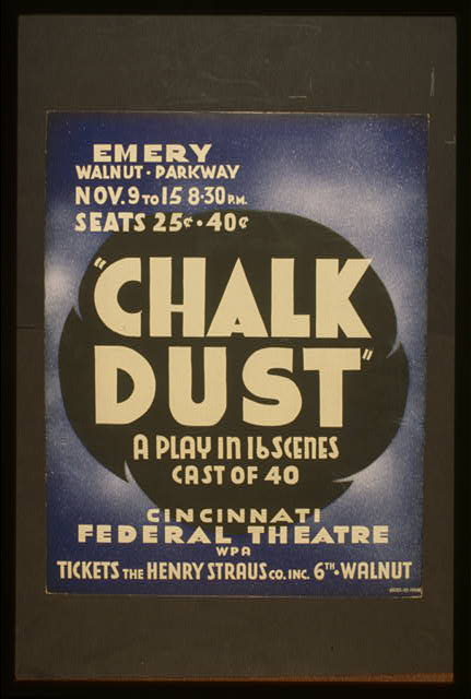 """Chalk dust"" a play in 16 scenes, cast of 40"
