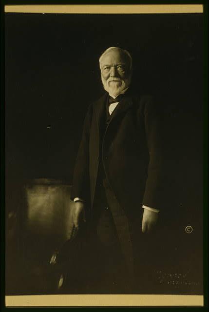 [Andrew Carnegie, three-quarter length portrait, standing, facing front]
