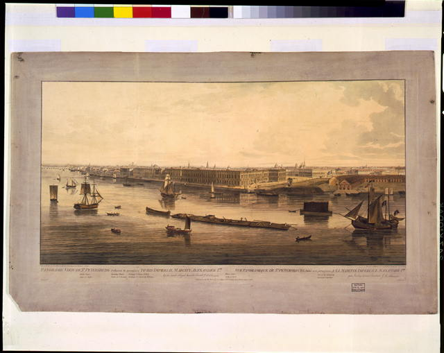 Panoramic view of St. Petersburg, dedicated by permission to his Imperial Majesty Alexander 1st. by his much obliged humble servant J.A. Atkinson