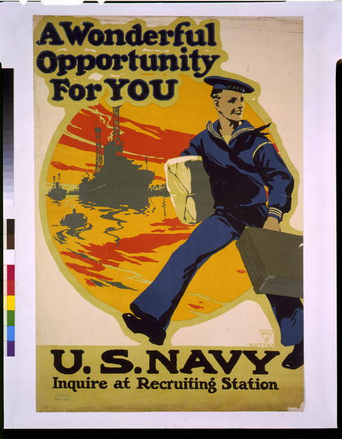 A wonderful opportunity for you, U.S. Navy, inquire at recruiting station