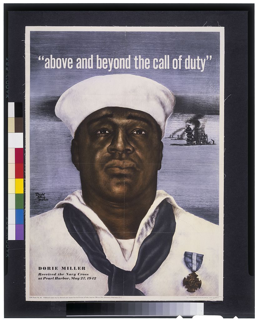 above and beyond the call of duty dorie miller received the navy library of congress