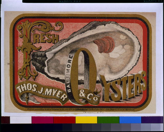 Fresh oysters--Thos. J. Myer & Co., Baltimore