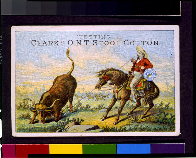 """Testing"" Clark's O.N.T. spool cotton"