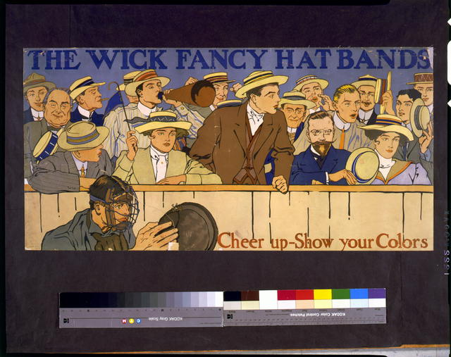 The Wick fancy hat bands. Cheer up - show your colors