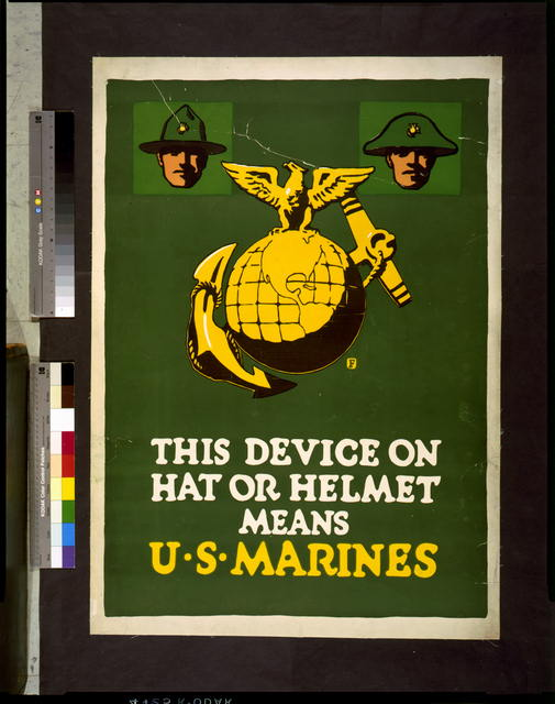 This device on hat or helmet means U.S. Marines
