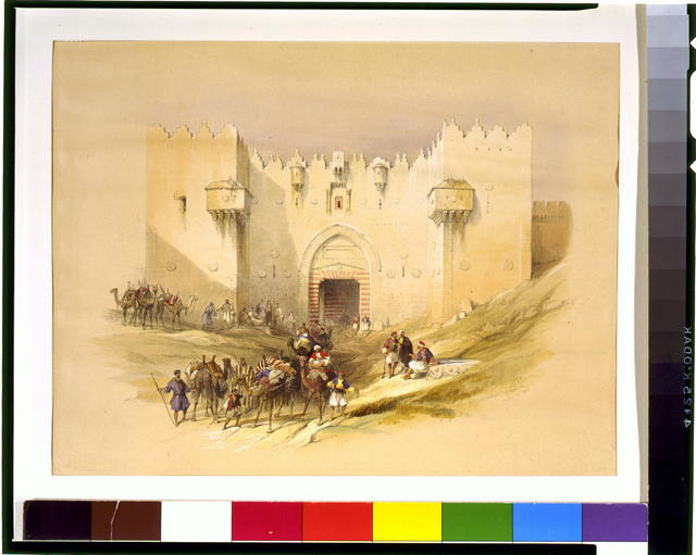Gate of Damascus Jerusalem April 14th 1839