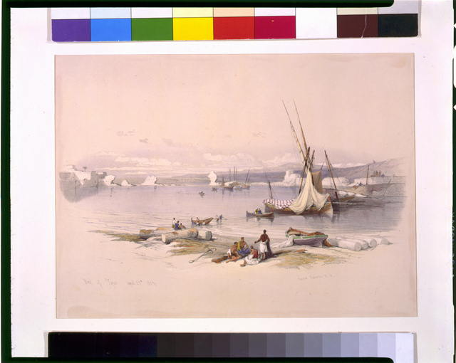 Port of Tyre April 27th 1839