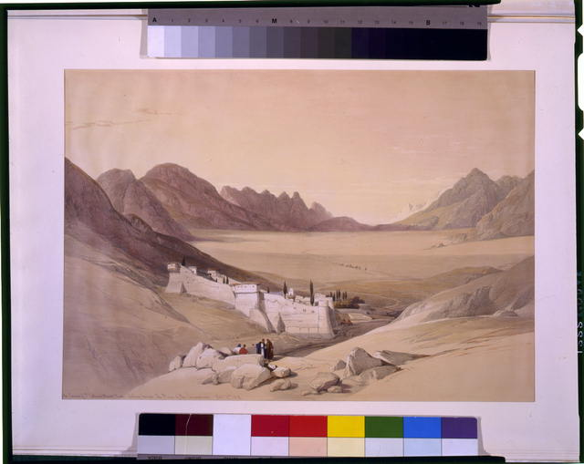 The convent of St. Catherine Mount Sinai looking towards the plain of the encampment Feby 21st 1839