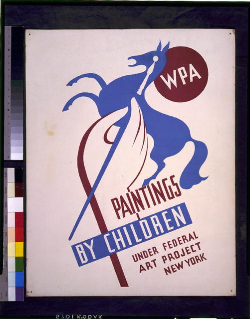 WPA paintings by children under Federal Art Project, New York