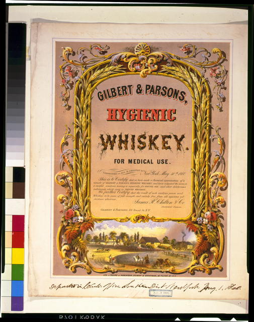 Gilbert & Parsons, hygienic whiskey--for medical use