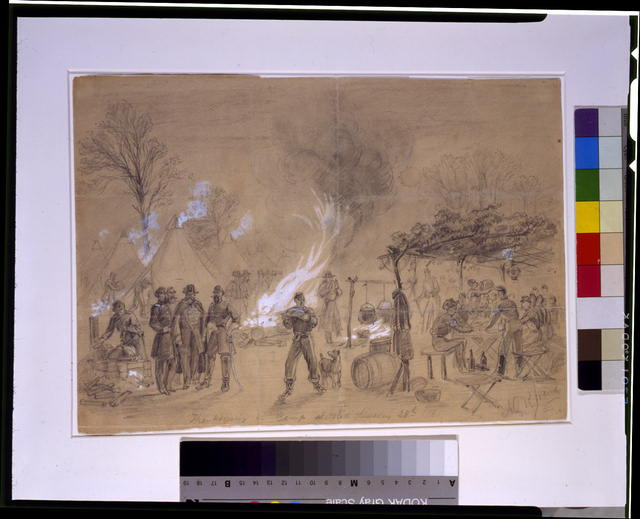 Thanksgiving in camp sketched Thursday 28th 1861