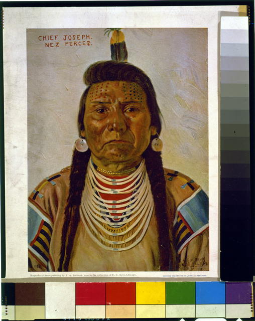[Chief Joseph, Nez Percé chief, head-and-shoulders portrait, facing front]