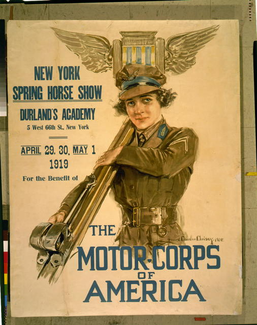 New York Spring horse show, Durland's Academy ... New York, April 29, 30, May 1, 1919, for the benefit of the Motor-corps of America