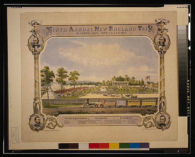 Ninth annual New England Fair, at Lowell, Mass., Sept. 3, 4, 5 & 6 1872