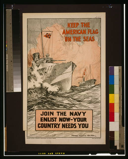 Keep the American flag on the seas Join the Navy--Enlist now-your country needs you /