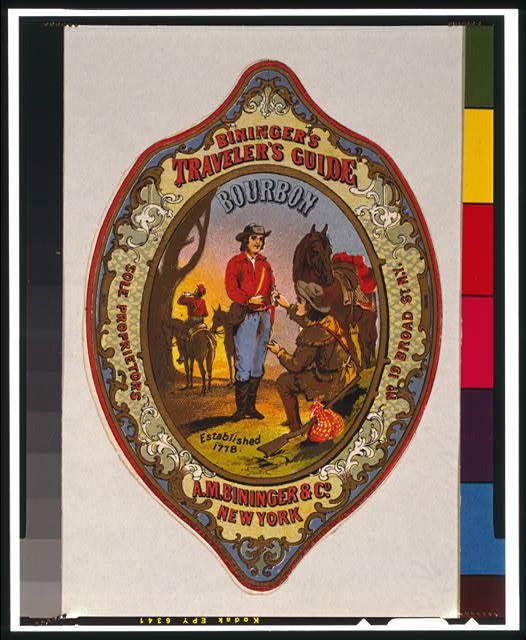 Bininger's Traveler's Guide Bourbon, A.M. Bininger & Co., New York