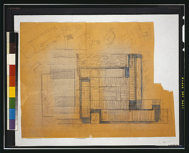 [Paul Rudolph's penthouse apartment, 23 Beekman Place, New York City. Sketch]