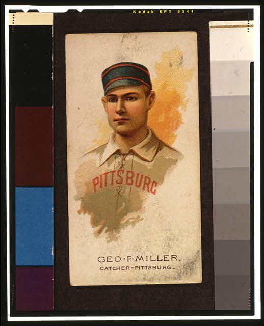 [George F. Miller, baseball card portrait]