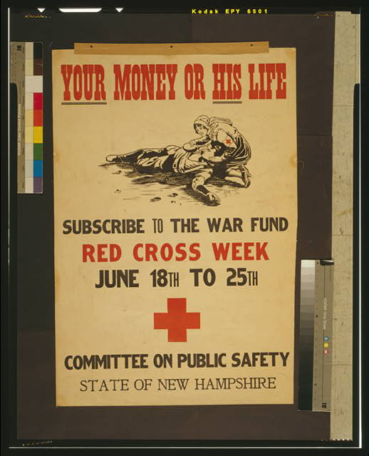 Your money or his life Subscribe to the war fund - Red Cross week - June 18th to 25th /