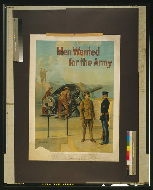 Men wanted for the army