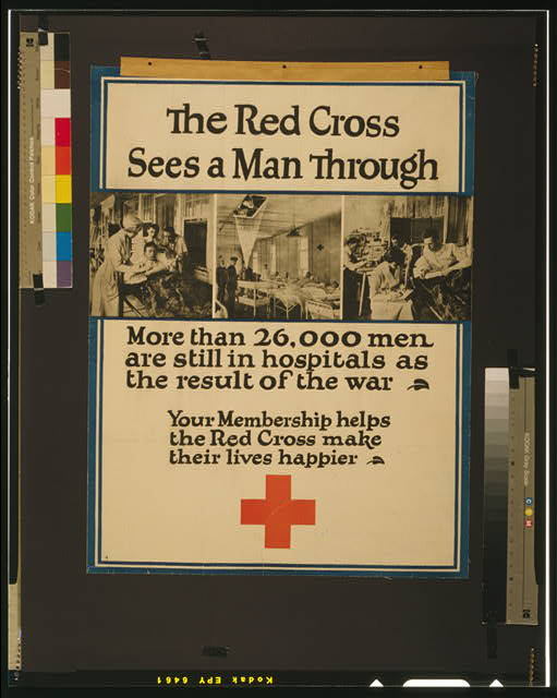 The Red Cross sees a man through More than 26,000 men are still in hospitals as a result of the war.