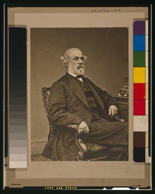 [Robert Edward Lee, three-quarter length portrait, seated, facing right]