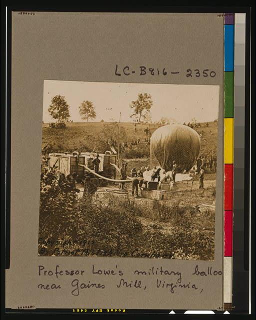 Professor Lowe's military balloon near Gaines Mill, Virginia