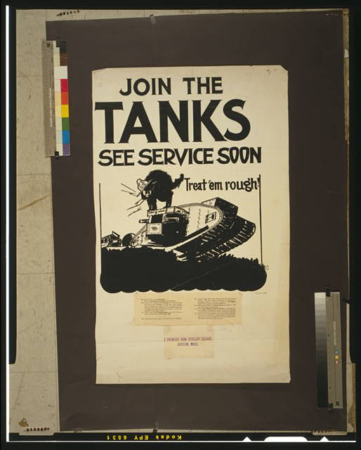 Join the tanks, see service soon Treat 'em rough! /