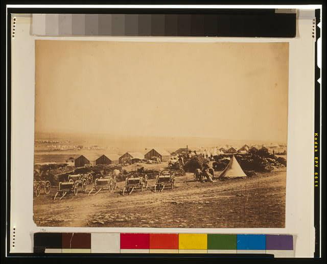 Artillery waggons [i.e., wagons], view looking towards Balaclava