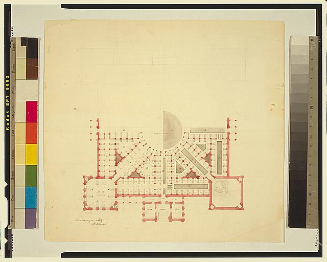 [Library of Congress, Washington, D.C. Partial floor plan]