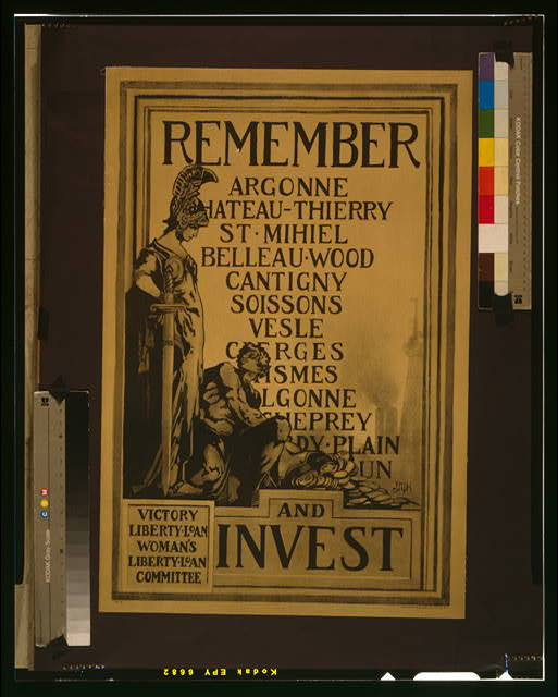 Remember [...] and invest Victory Liberty Loan, Woman's Liberty Loan Committee /