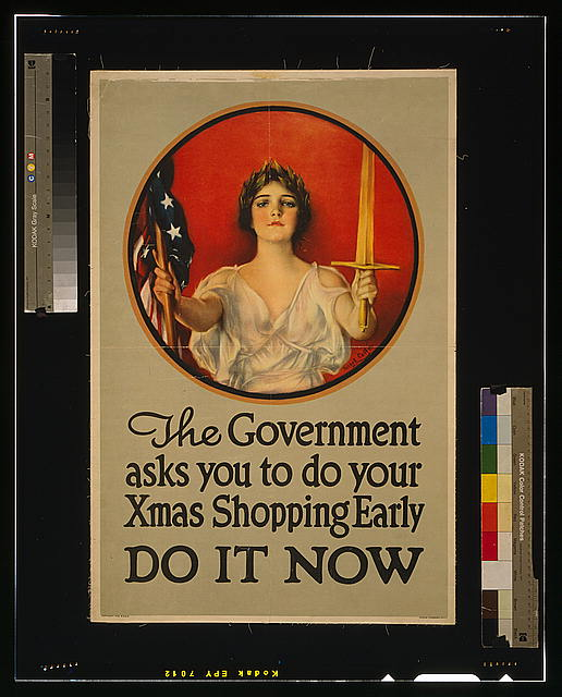 The government asks you to do your Xmas shopping early--Do it now