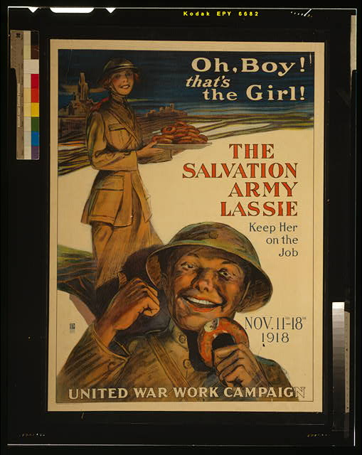 Oh, boy! That's the girl! The Salvation Army lassie--keep her on the job