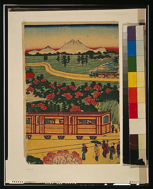 Tōkyō Ueno yama shita yori Nakasendō ōfuku jōkitetsudō no zu