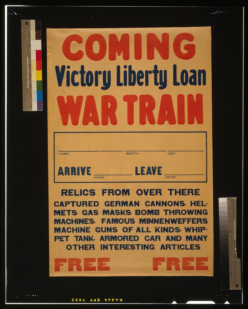 Coming, Victory Liberty Loan war train