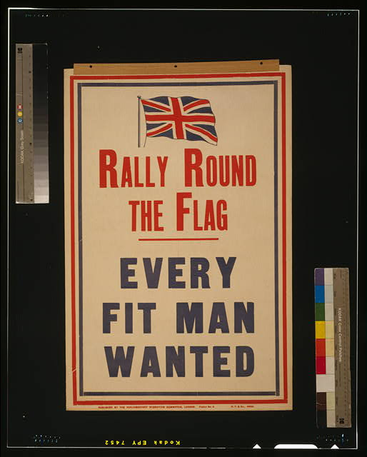 Rally round the flag. Every fit man wanted
