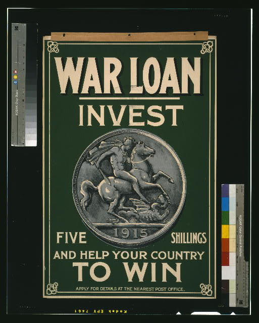 War loan. Invest five shillings and help your country to win