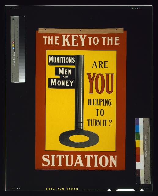 The key to the situation. Are you helping to turn it?