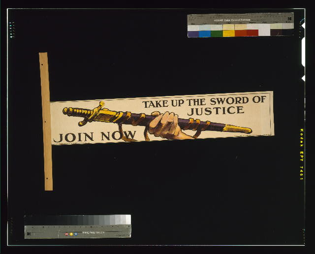 Take up the sword of justice. Join now