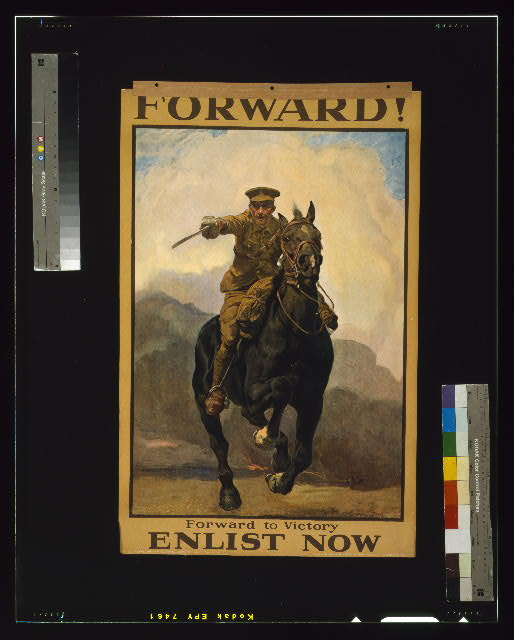 Forward! Forward to victory. Enlist now