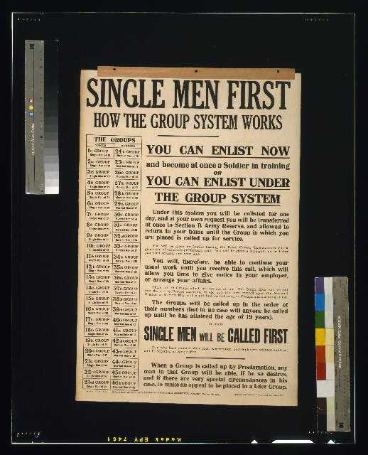 Single men first. How the group system works