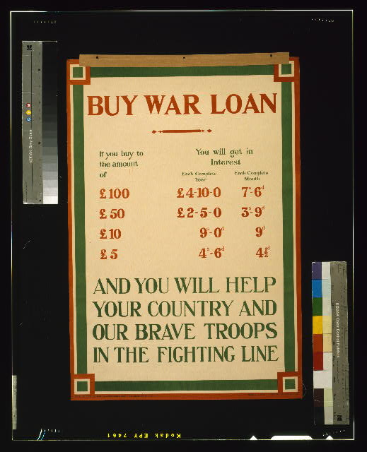 Buy war loan and you will help your country and our brave troops in the fighting line