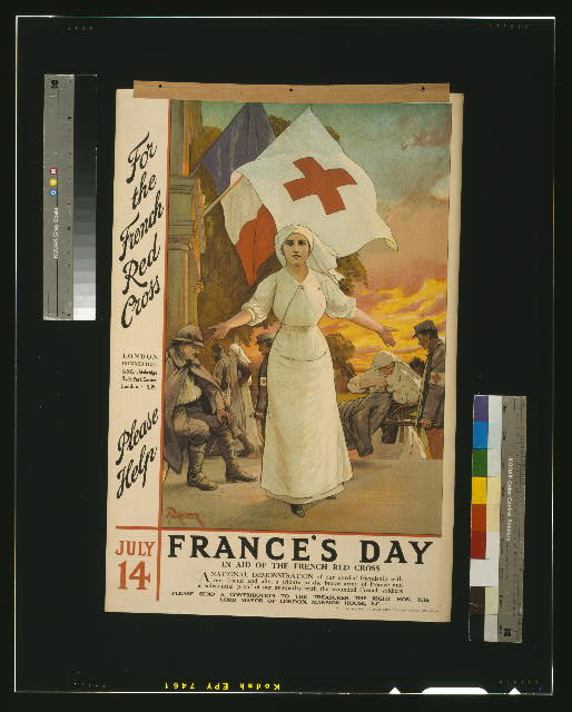 For the French Red Cross. Please help. July 14. France's day, in aid of the French Red Cross