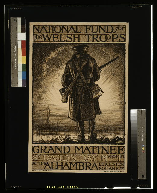 National fund for the Welsh troops. Grand Matinee, St. David's day, March 1st, at the Alhambra, Leicester Square, W.