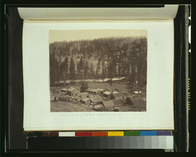 The gold mining town of Rock Creek, British Columbia, 1860