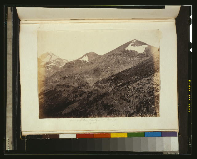 Summits of Rocky Mountains near lat. 49 ̊N., July 1861