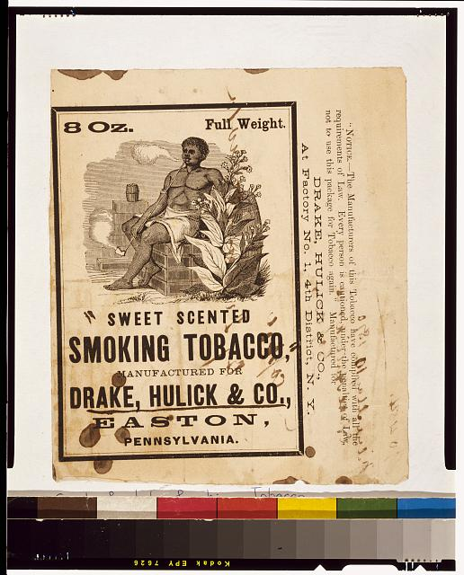Sweet scented smoking tobacco, manufactured for Drake, Hulick & Co., Easton, Pennsylvania