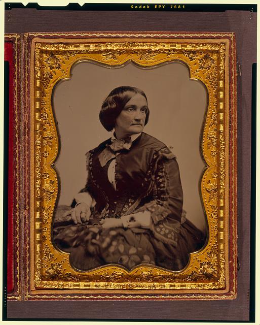 [Charlotte Cushman, three-quarter length portrait, facing right]