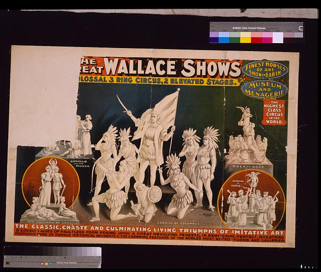 [T]he [gr]eat Wallace shows : [c]olossal 3 ring circus, 2 elevated stages