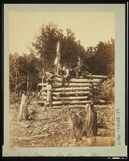 Signal station on Elk Mountain, Md., overlooking battlefield of Antietam, October 1862
